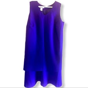 Roman's blue double layered dress size 18W